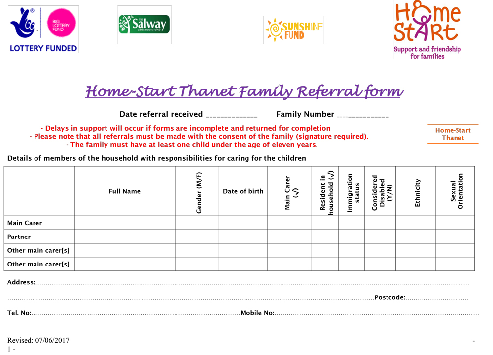 Image of Role Description by Home start Thanet