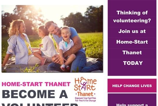 Image of Embrace Recruitment Advert by Home start Thanet