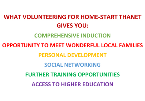 Volunteer Benefits by Home start Thanet