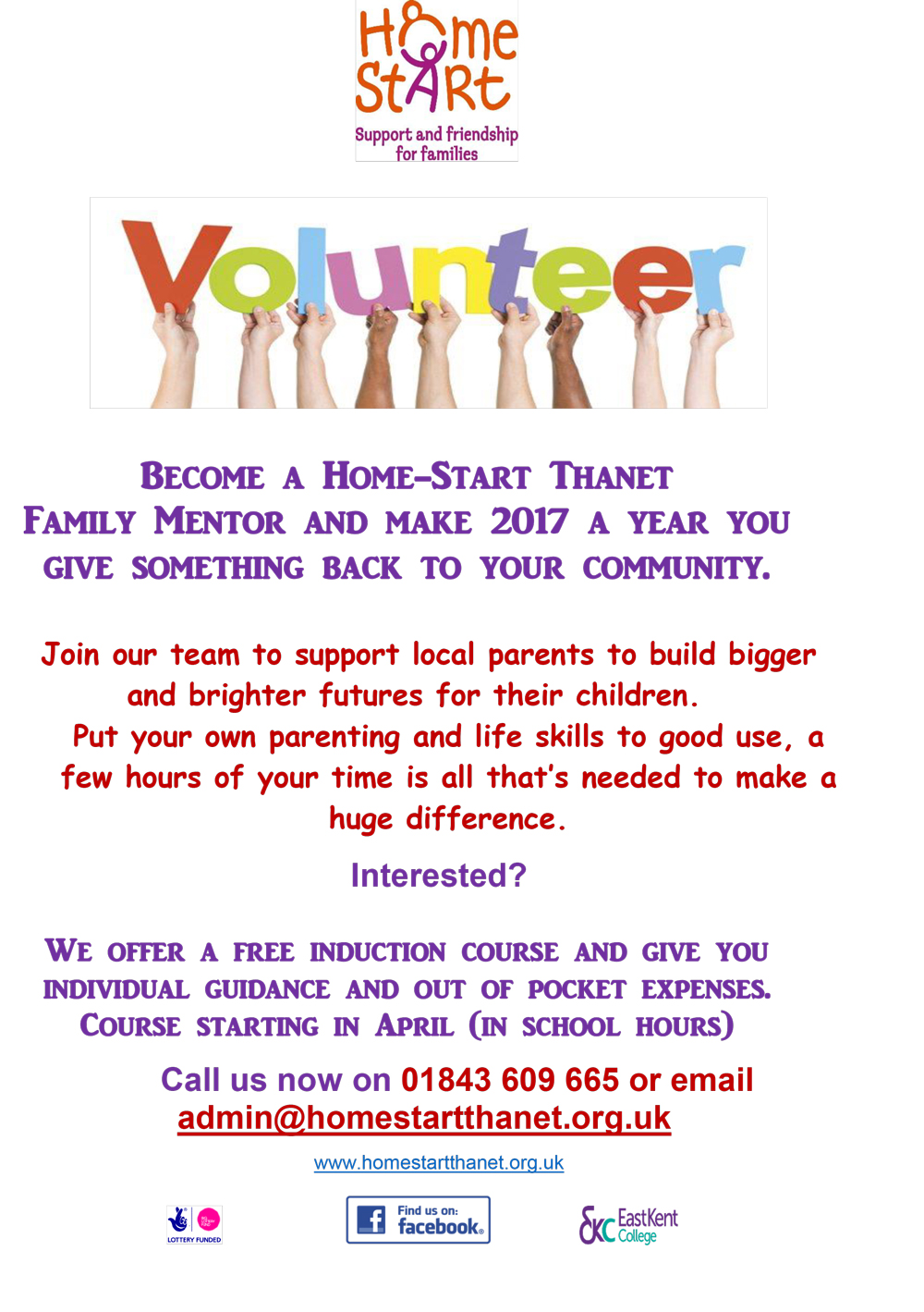 Image of Volunteer Poster by Home start Thanet